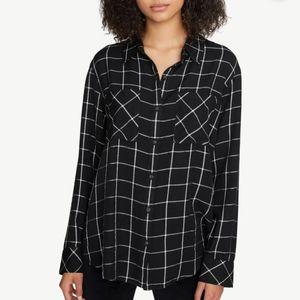 Sanctuary Boyfriend Plaid Shirt Size XL